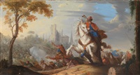 reitergefechte zwischen christlichen und osmanischen soldaten (pair) by pieter (janitzer or il geannizzero) hofmans
