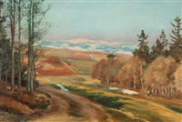 early spring in the krkonoše foothills by frantisek kavan