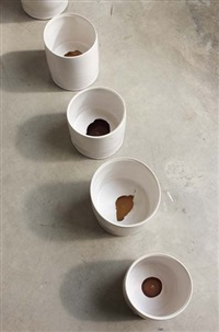 cylinders with false bases (6 works) by edmund de waal