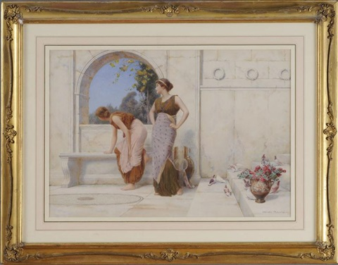 a peek into the garden by henry ryland