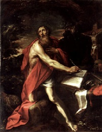 saint jerome in the wilderness by luciano borzone