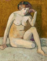 sitzender akt by broncia koller-pinell