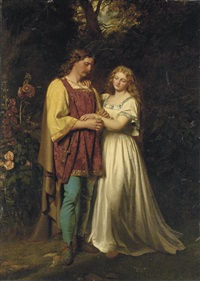 posthumus and imogen by john faed