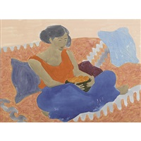 woman with fruit by march avery