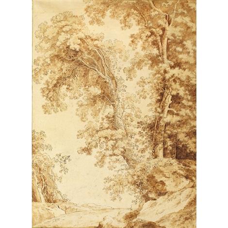 ex lucum sissimis delineationibus road through the grove of trees by lucas van uden