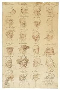 head studies by thomas rowlandson