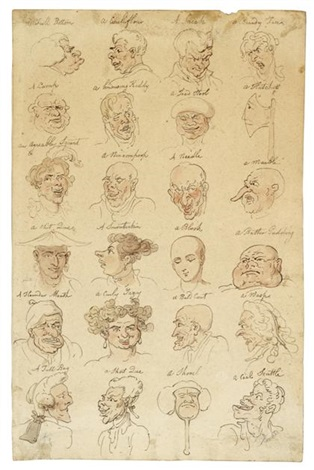 head studies by thomas rowlandson