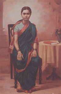portrait of a lady by vasudeo sitaram adulkar