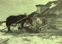 in the cattle yard by nikolai n. volodimirov