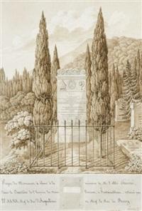 monument à l'abbé guénée : stèle du cimetière et reprise de projet (2 works) by maximilien-joseph hurtault
