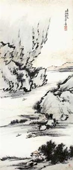 嘉陵山色图 by liang yuwei