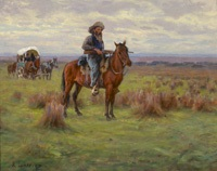 8western scene by richard lorenz