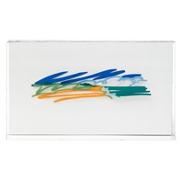 maquette for seascape with cumulus clouds by tom wesselmann
