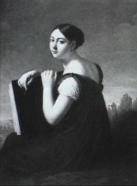 autoportrait au carnet de dessin by lucille foullon