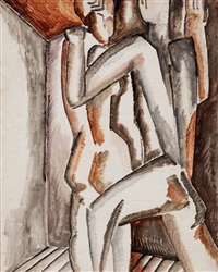 couple by ossip zadkine