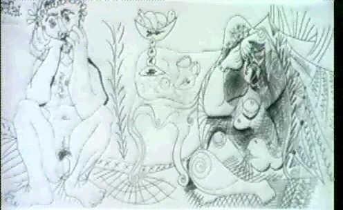 HOMME ET FEMME NU DANS UN INTERIEUR by Pablo Picasso on artnet