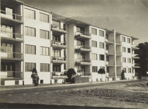 dammerstock vue des chambres principales by walter gropius