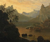 mountainscape by friedrich ernst wolperding