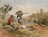 hunters and game by samuel thomas gill