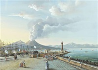vue du port de naples by giuseppe gustavo scoppa