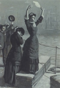 farwell at the quayside by robert catterson smith