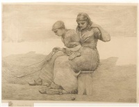 mending the tears by winslow homer
