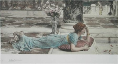 the goldfish pool by sir lawrence alma tadema