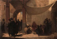 le christ au milieu de ses fidèles by auguste barthelemy glaize