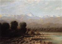 la vallée de l'isère et la chaîne de belledonne au début de printemps by lucien alphonse gros