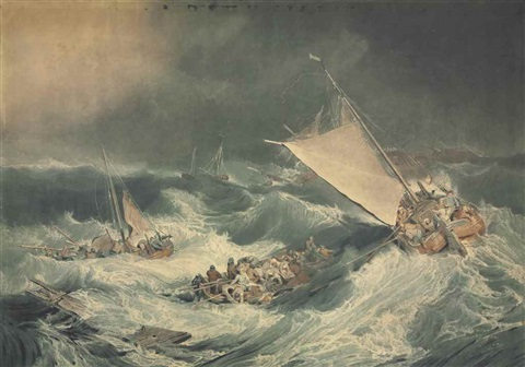 A Shipwreck with Boats Endeavouring to Save the Crew after