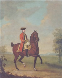 equestrian portrait of general ramsden by david morier