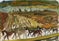 pferde im gewitter by horst leifer