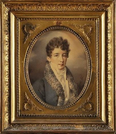 portrait de louis françois auguste de rohan chabot by henri joseph hesse