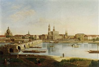 dresden from the right back of the elbe below the august bridge by karl gottfried traugott faber
