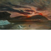 an evening effect, greenland by frank wilbert stokes