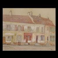 street scene by ger (gerardus petrus) langeweg