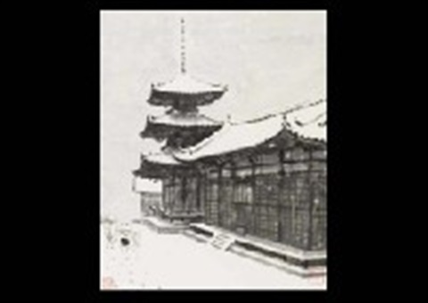 snow in the temple by akira akizuki