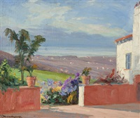 view from the patio by jean mannheim