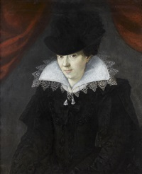 portrait de femme à la collerette by françois quesnel