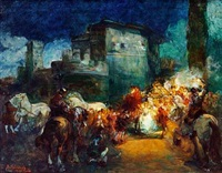 roman processions (2 works) by giuseppe rivaroli
