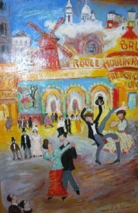 moulin rouge, hommage à la goulue et au grand désossé by bruno emile laurent
