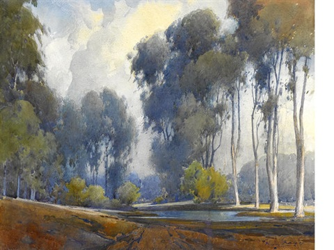 eucalyptus on a pond by percy gray
