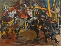 le combat de chevaliers by walter spitzer