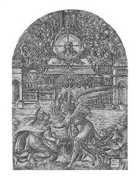 the angel shows st. john the fountain of the living water by jean duvet