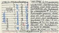 kalenderblatt zu tolstoi und baudelaire by hanne darboven