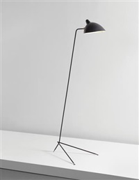 simple floor lamp with lampadaire shade by serge mouille