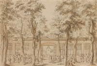 le grand café royal d'alexandre (+ etching; 2 works) by j. arrivet