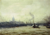 st. pauls from the river by ernest dade