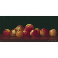 apples on a tabletop by william j. mccloskey