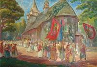 la procession by stanislaw paciorek